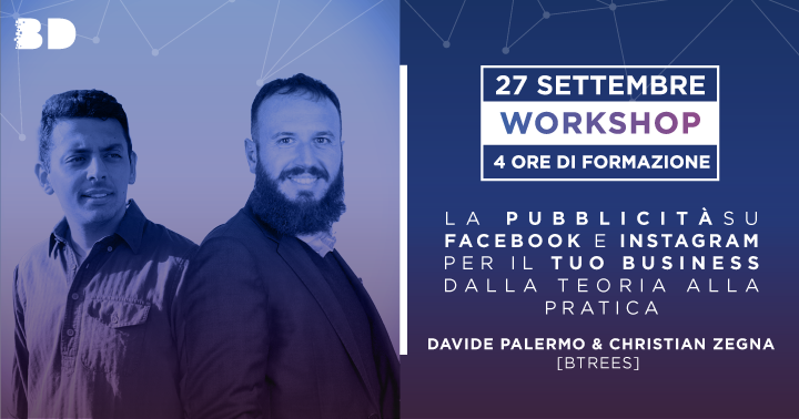 27/09 | Workshop | La pubblicità su Facebook e Instagram per il tuo Business